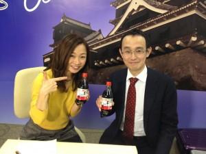 山内社長さん(右)と江藤みきさんのツーショット