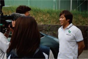 森山選手インタビューにつかまってるし。